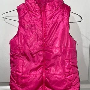 Justice for Girls Pink Puffer Vest Size 6/7 Zip